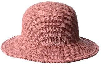 San Diego Hat Company CHM5 Cotton Crochet Medium Brim Sun Hat (Rose) Knit Hats