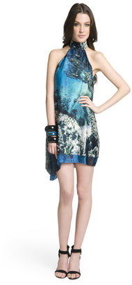 Christian Siriano Brilliant Blue Halter Dress