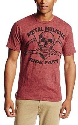 Metal Mulisha Men's Ride Fast T-Shirt, Burgundy Heather, XX-Large