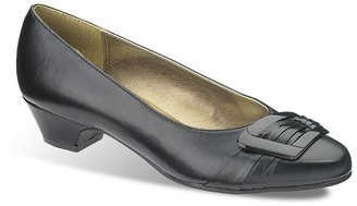 Hush Puppies Soft style by pleats be with you wide dress heels - women