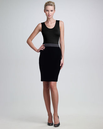 Armani Collezioni Satin-Waist Pencil Skirt