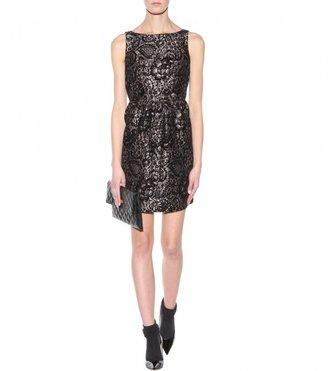 Alice + Olivia Lillyanne flocked jacquard dress