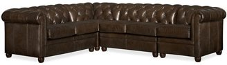 Pottery Barn Chesterfield Leather 4-Piece Sectional
