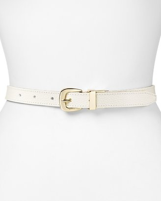 MICHAEL Michael Kors Belt - Reversible Logo to Pebble Grain Leather