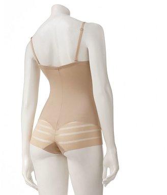Maidenform shapewear sleek stripes body briefer 1156 - women's