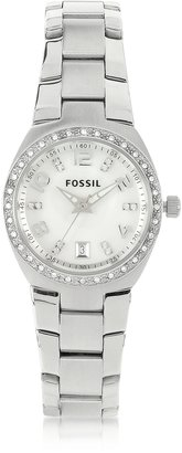 Fossil Stainless Steel & Crystals Women's Bracelet Watch $95 thestylecure.com