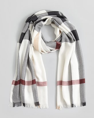 Burberry Half Mega Check Silk/Cashmere Scarf