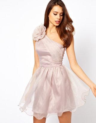 Lipsy Tutu Dress with Corsage Shoulder Detail