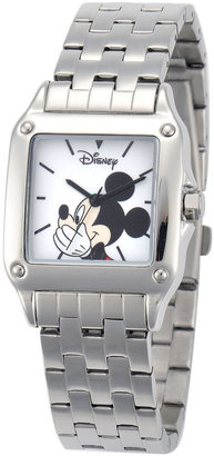 DISNEY Disney Mickey Mouse Womens Silver-Tone Watch $59.99 thestylecure.com