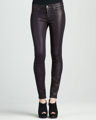 Rich and Skinny Shady Coated Faux-Leather Leggings