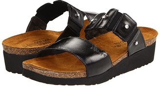 Naot Footwear Ashley (Black Madras Leather) Women's Sandals