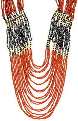 FALCHI by Falchi Necklace, Red Multi-Row Bead Necklace