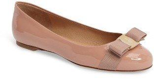 Salvatore Ferragamo Women's 'Varina' Leather Flat