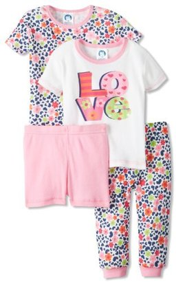 Gerber Baby-Girls Infant 4 Piece Love Pajama