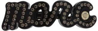 Marc by Marc Jacobs Marc Script Barrette (Black 2) - Accessories