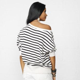 Denim & Supply Ralph Lauren Striped Boyfriend Sweatshirt