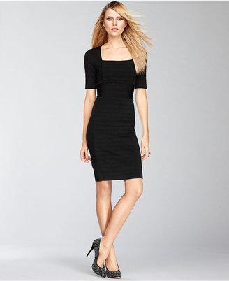 INC International Concepts Petite Dress, Short-Sleeve Bandage Sheath