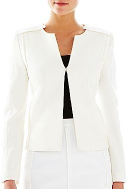 Mng by Mango® Textured Collarless Jacket