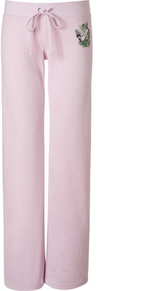 Juicy Couture Peek-A-Boo Anchor Hibiscus Velour Pants