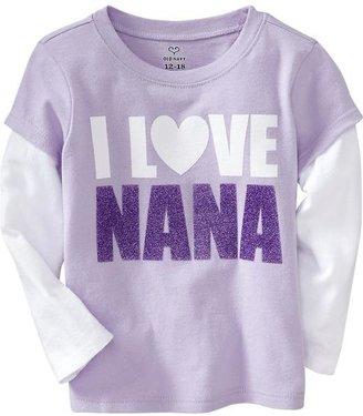 """Nana """"I Love 2-in-1 Tees for Baby"""