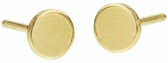 Jennifer Meyer Circle Stud Earrings - Yellow Gold