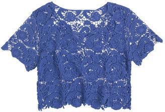 Delia's Crop Lace Short Sleeve