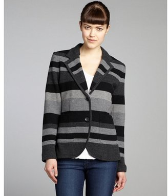 Rag and Bone Rag & Bone grey and black striped wool two-button 'Lucy' blazer