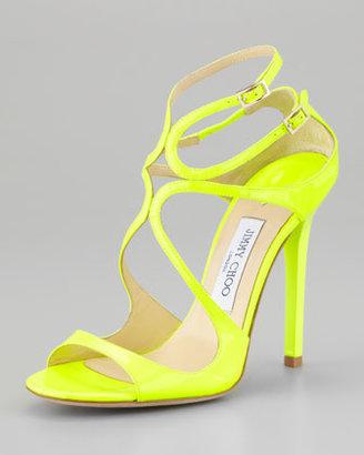 Jimmy Choo Lang Patent Strappy Sandal, Yellow