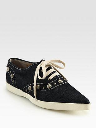 Marc Jacobs Denim Cabouchon Sneakers