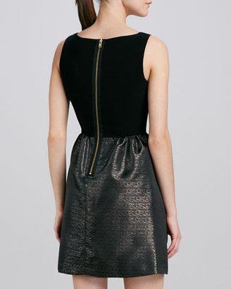 Aidan Mattox Metallic Jacquard Dress