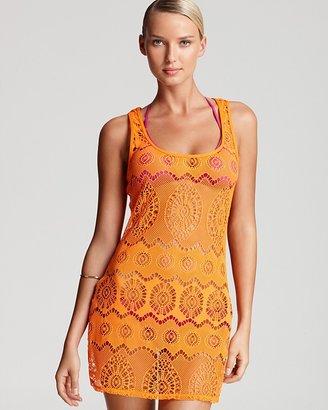 Ralph Lauren Blue Label Ribbon Crochet Cover Up