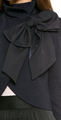 Alice + Olivia Addison Bow Crop Jacket