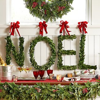 Williams-Sonoma Myrtle Letter Wreath, Noel