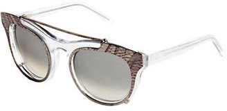 Vera Wang Miela Butterfly Sunglasses with Clip-On Plate