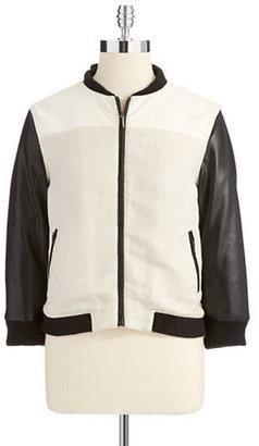 Blank NYC Colorblock Bomber Jacket