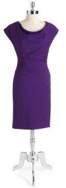 Suzi Chin Side-Ruched Sheath Dress