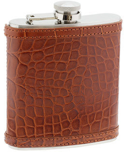 J.Crew Croc-embossed leather flask