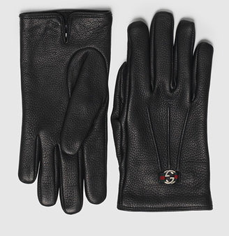 Gucci Women's Black Leather Glove