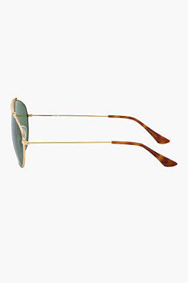 Super Green and gold Leon hand made aviators