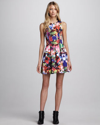 Eight Sixty Printed Pleated Dress