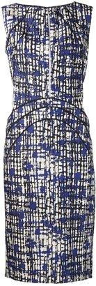 Lela Rose abstract print dress