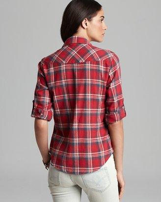 Bea Yuk Mui JACHS Girlfriend Shirt Light Flannel Plaid Button Down