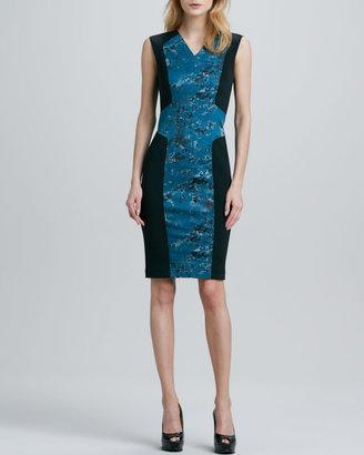 Robert Rodriguez Pixel-Print Techno Dress