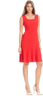 Anne Klein Dress, Sleeveless Seamed A-Line