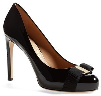 Women's Salvatore Ferragamo Rounded Toe Bow Pump $650 thestylecure.com