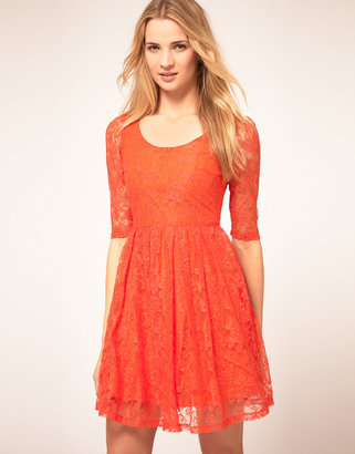 Kookai Lace Dress With Scoop Neck