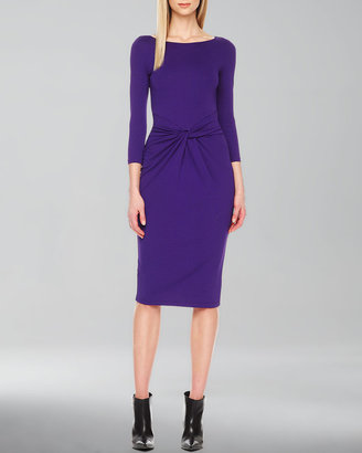 Michael Kors Twist-Front Jersey Dress
