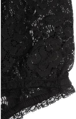 Dolce & Gabbana High-waisted ruffled lace briefs