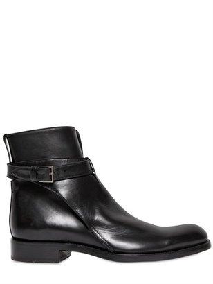 Christian Dior Belted Matt Calfskin Boots
