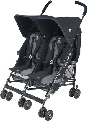 Maclaren Twin Triumph Stroller Black